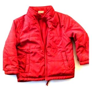 Kids puffy coat red size 3t